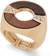 Thalia Sodi Gold-Tone Crystal and Wood Stretch Ring, Created for Macy's