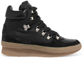 Isabel Marant Brent Suede, Leather And Canvas Sneakers - Black