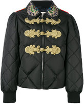 Gucci crystal-embellished padded jacket - women - Acrylic/Polyamide/Acetate/metal - 38