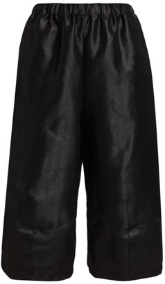 Comme des Garcons Pull-On Herringbone Cropped Pants