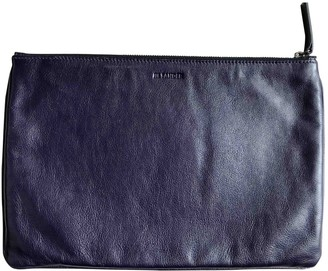 Jil Sander Purple Leather Small bags, wallets & cases