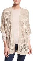 Neiman Marcus Open-Weave Sequin Cashmere Cardigan