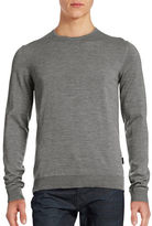 Strellson Heathered Wool Crew Sweater