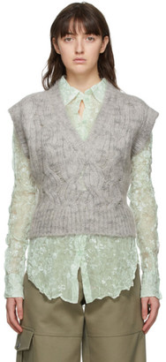 Nina Ricci Grey Mohair Pullover Vest