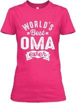 Teespring Women's Worlds Best Oma Ever Gildan Relaxed T-Shirt Small