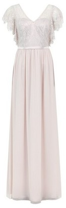 Dorothy Perkins Womens **Showcase Tall Pink 'Chloe' Lace Bodice Maxi Dress, Pink