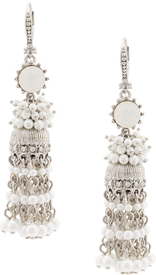Marchesa beaded tassel earring