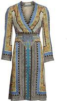 Etro Geometric Paisley Bell-Sleeve Dress
