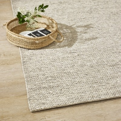 The White Company Grey Braided Runner, Grey, One Size