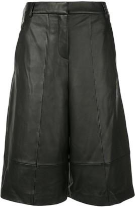 Tibi Leather Knee Length Shorts
