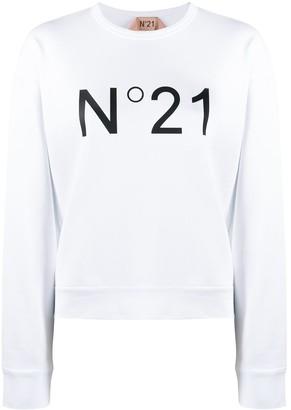 No.21 Logo Print Crew Neck Sweatshirt