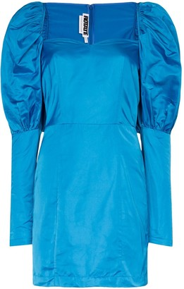 Rotate by Birger Christensen Puffed Shoulder Mini-Dress