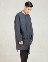 N.Hoolywood Navy Crew Neck Military Coat