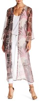 Sky Vene Silk Blend Kimono