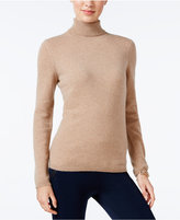 Charter Club Petite Cashmere Turtleneck Sweater, Only at Macy's