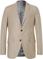 Etro Beige Stretch-Cotton Blazer