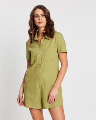 Nude Lucy Mina Linen Playsuit