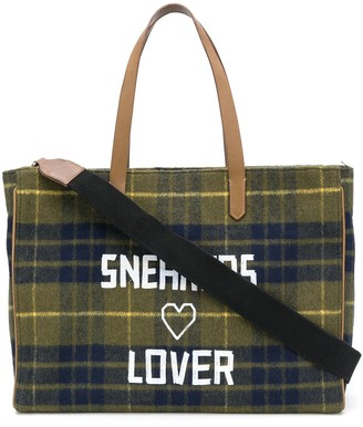 Golden Goose California East-West checkered bag