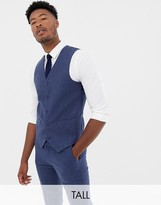 Gianni Feraud Tall slim fit wool blend heritage donnegal suit vest
