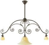Rejuvenation Victorian 3-Light Billiard Light w/Straw Opalescent Shades