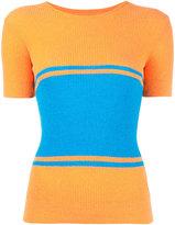 Maison Margiela block panel T-shirt - women - Cotton/Polyamide - XS