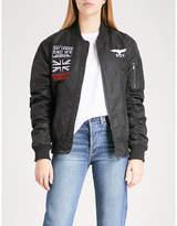 Boy London Concert shell bomber jacket