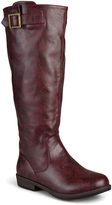 Journee Collection Oxblood Amia Wide-Calf Riding Boot