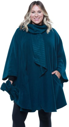 Women's Linda Anderson Le Moda Fleece Cape with Gloves & Attached Scarf