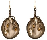 Alexis Bittar Lucite & Crystal Vine Drop Earrings