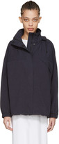 Moderne Navy Cotton Trench Jacket