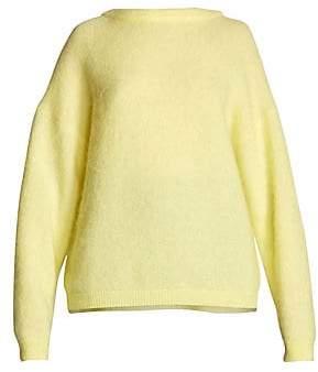Acne Studios Women's Dramatic Mohair-Blend Crewneck Sweater