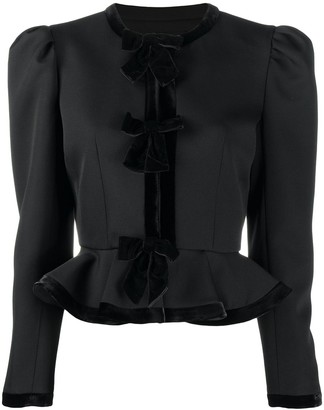 Alessandra Rich Peplum Fitted Jacket