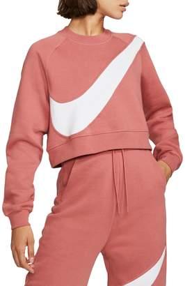 Nike Swoosh Cotton-Blend Fleece Sweatshirt