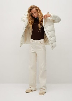 MANGO Feather down hooded coat off white - XS - Women