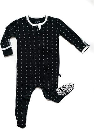 Peregrine Kidswear Typewriter Fitted One-Piece Pajamas