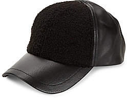 UGG Men's Faux Sherpa & Leather Baseball Cap