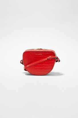 French Connection Tallin Recycled Leather Half Moon Crossbody