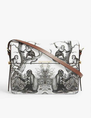 Burberry Grace large monkey print leather shoulder bag