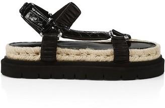 3.1 Phillip Lim Noa Croc-Embossed Leather Platform Sport Sandals