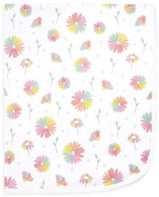 Baby Noomie Daisy Print Double-Layer Blanket