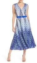 Charlie Jade Print Silk Midi Dress