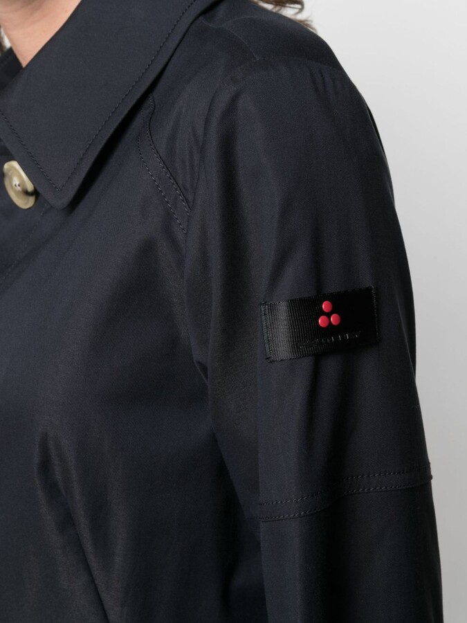 Thumbnail for your product : Peuterey Belted Logo-Patch Trench Coat