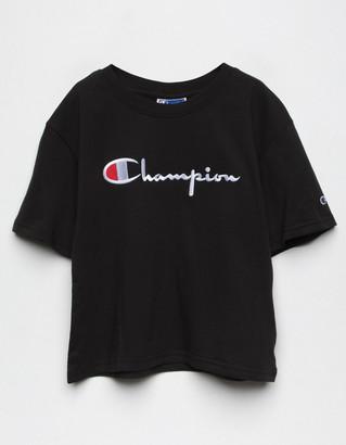 Champion C-Life Boxy Girls Black Tee