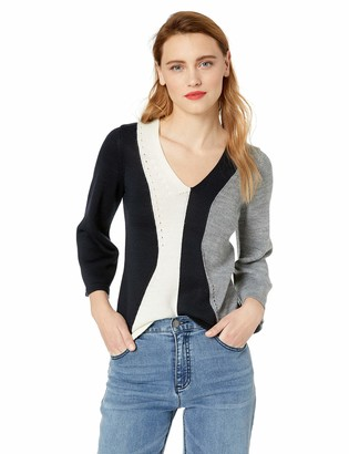 French Connection Women's Patchwork Multi Color Sweater