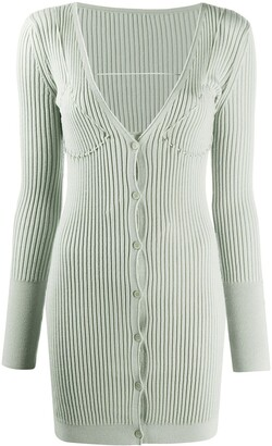 Jacquemus Lauris ribbed cardigan dress