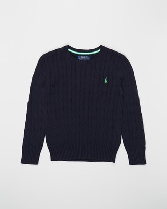 Polo Ralph Lauren Cable Crew Neck Combed Cotton Sweater - Teens