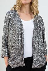 Busby & Fox - Sanne Sequin Jacket - medium | silver - Silver/Silver
