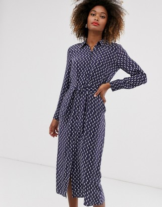 And other stories & shirt dress with blue floral print
