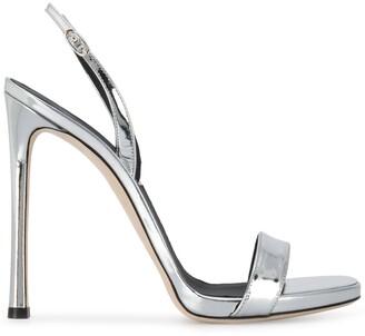Giuseppe Zanotti Metallic Open-Toe Heeled Sandals