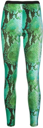 MSGM Snakeskin Effect Leggings